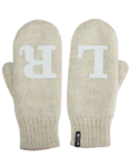 Left/Right reflective mittens, grey
