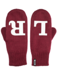 Left/Right reflective mittens, wine