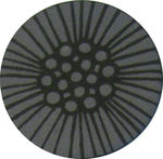 Reflector pin, large, grey-black