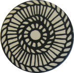 Reflector pin, large, white-black