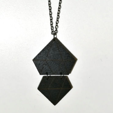 DFD Diamonds necklace, black